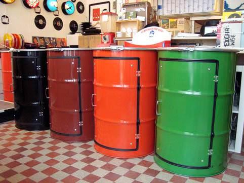 Metal Barrel Cupboard 6 • Recycled Furniture