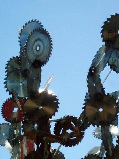 Saw Blades Sculpture 2 • Recycled Art