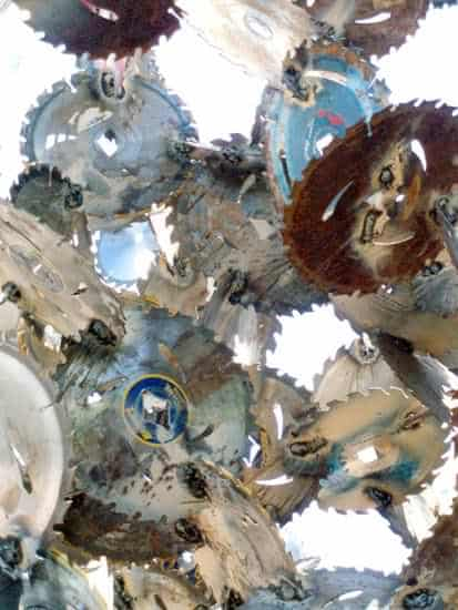 Saw Blades Sculpture 3 • Recycled Art