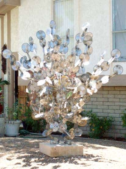 Saw Blades Sculpture 1 • Recycled Art