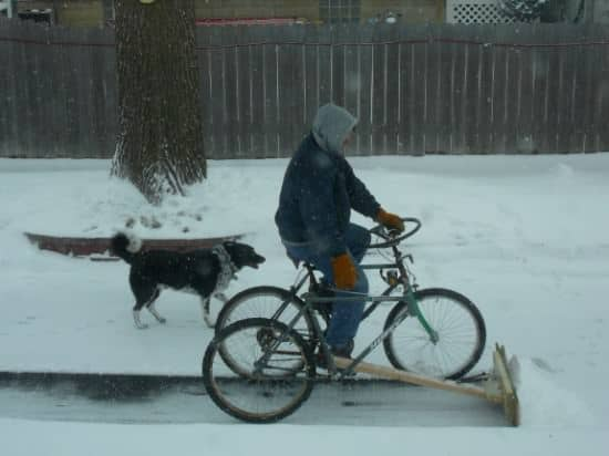 Diy : Pedal-powered Snow Plow 1 • Do-It-Yourself Ideas