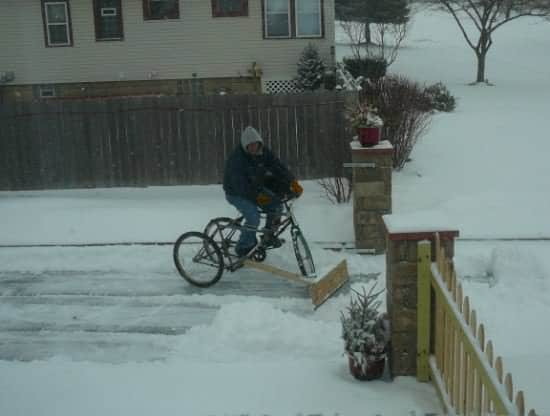 Diy : Pedal-powered Snow Plow 2 • Do-It-Yourself Ideas