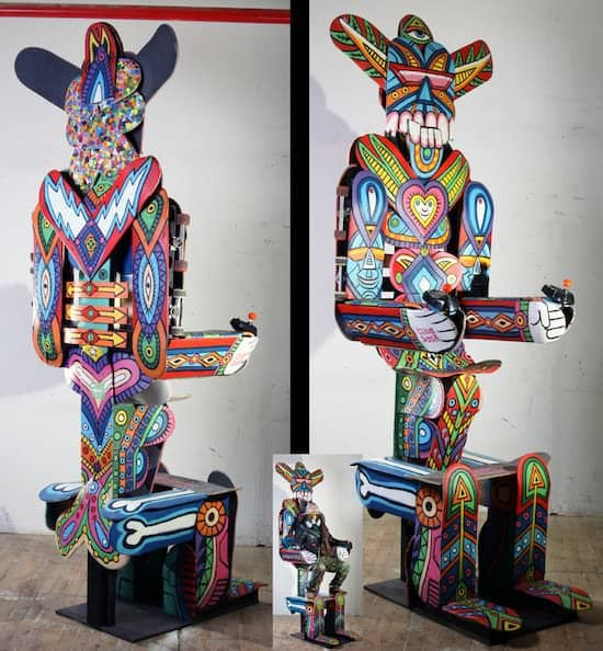Peruvian Skateboard Art 2 • Recycled Art