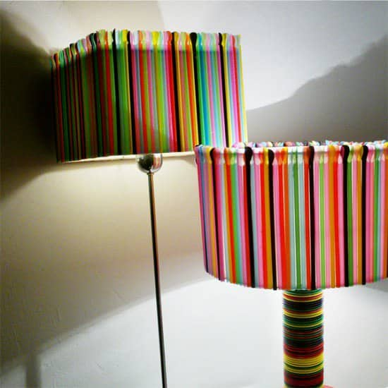 Plastic Cups & Straws Lamps 1 • Lamps & Lights