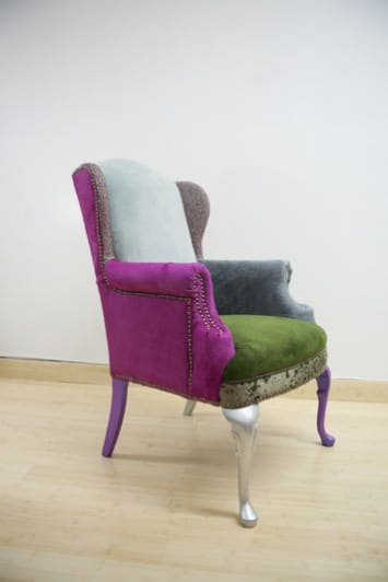 Scrap Fabric Chairs 4 • Recycled Furniture