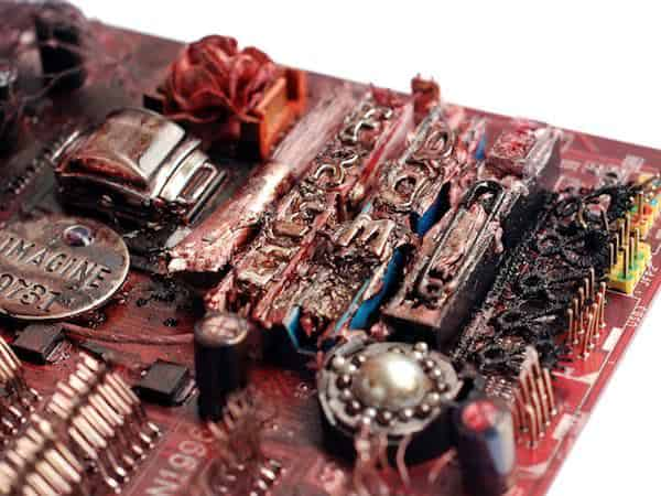 Computer Motherboard Art 3 • Recycled Art