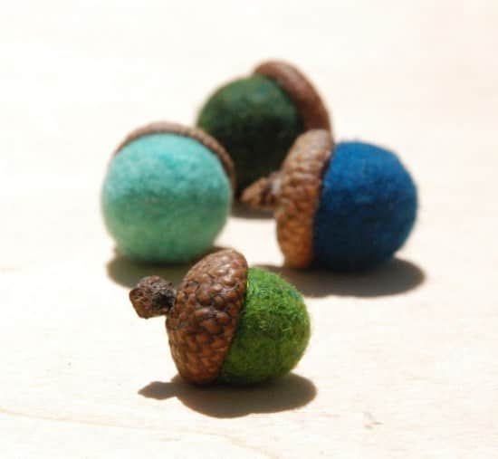 Felted Wool Acorns 2 • Clothing