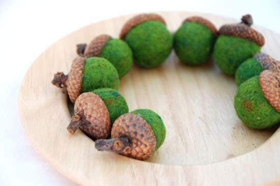 Felted Wool Acorns 3 • Clothing