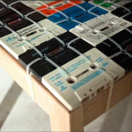 Cassette Tapes Chair 2 • Recycled Electronic Waste
