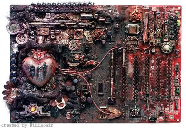 Computer Motherboard Art 1 • Recycled Art