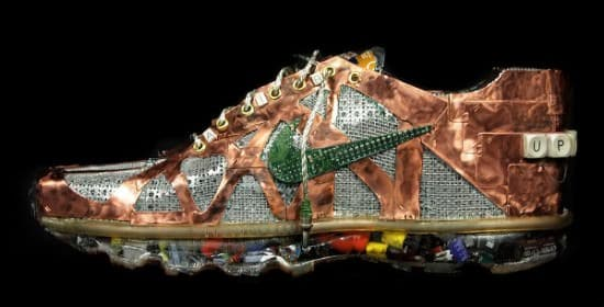 Nike Air Max Sneakers Made from Old Computers Part 1 • Recycled Art