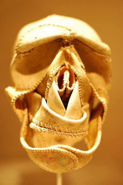 Baseball Skull 1 • Recycled Art