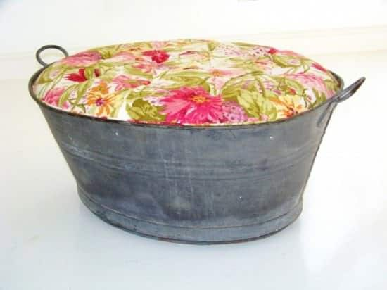 Upholstered Ottoman Tub 1 • Clothing