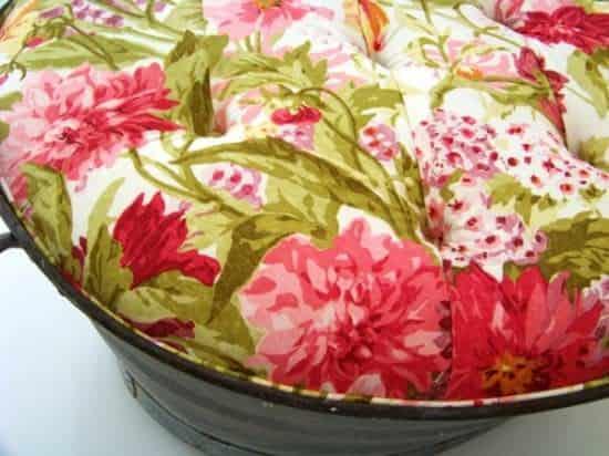 Upholstered Ottoman Tub 2 • Clothing