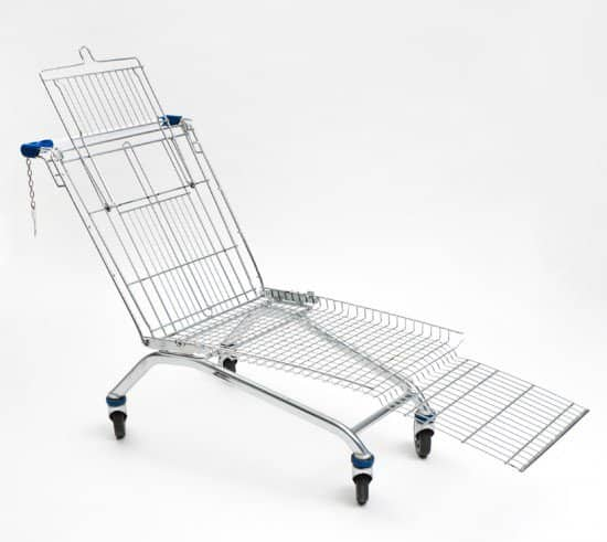 Shopping Cart Lounger 1 • Recycled Furniture
