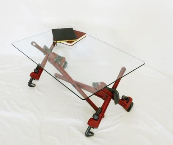 Pipe Wrench Coffee Table 3 • Recycled Furniture