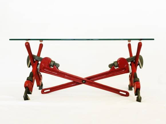 Pipe Wrench Coffee Table 2 • Recycled Furniture