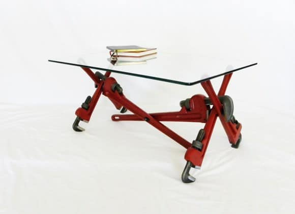 Pipe Wrench Coffee Table 1 • Recycled Furniture