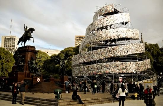 Tower of 30,000 Books 1 • Recycled Art