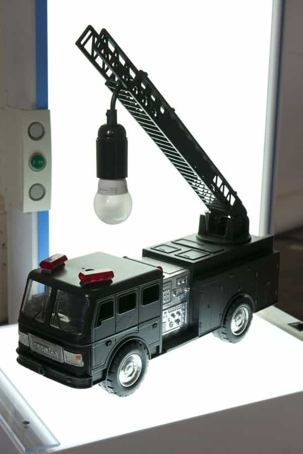 Upcycled Fire Truck Toy Into Original Lamp 3 • Lamps & Lights