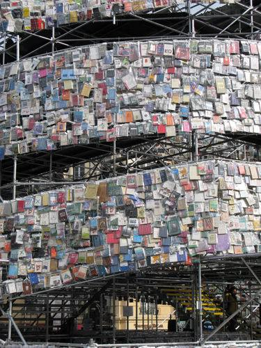 Tower of 30,000 Books 2 • Recycled Art