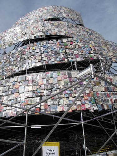 Tower of 30,000 Books 4 • Recycled Art