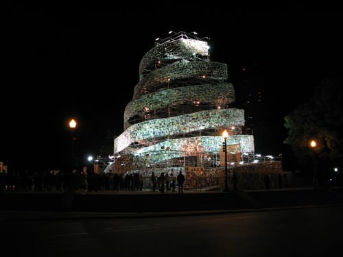 Tower of 30,000 Books 5 • Recycled Art