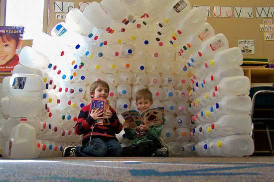 Milk Jug Igloo 1 • Do-It-Yourself Ideas