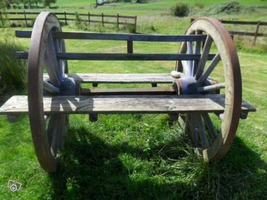 Cartwheel Bench 2 • Wood & Organic