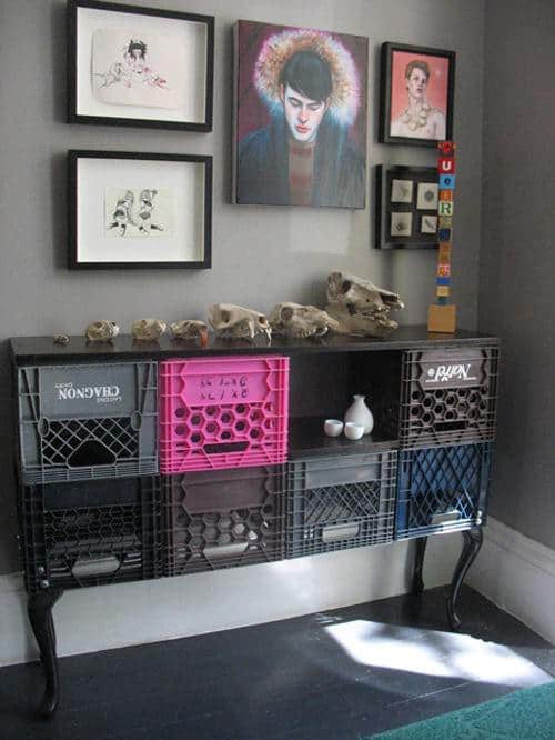 Crates Cabinet 1 • Do-It-Yourself Ideas