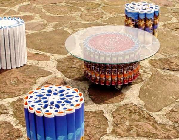 The Mandala Series 4 • Recycled Furniture