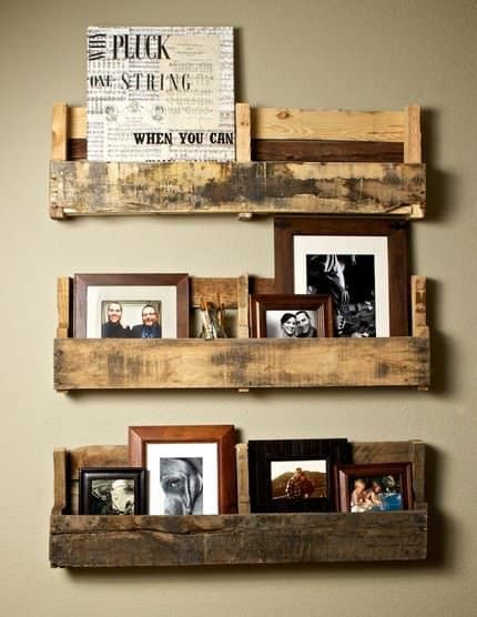 Pallet Shelves 1 • Do-It-Yourself Ideas