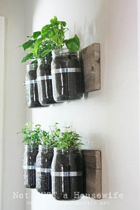 Jar Wall Planter 2 • Do-It-Yourself Ideas