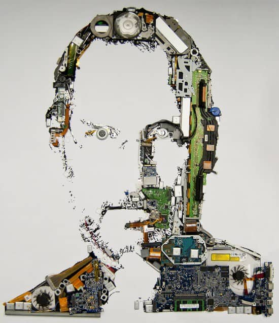 Digital Steve Jobs Portrait 1 • Interactive, Happening & Street Art