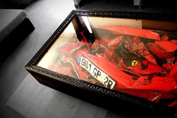 Charly-Molinelli-Crashed-Ferrari-Table-C
