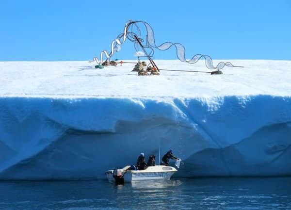 Haunting Sculptures Shaped Like Inuit Dog Sleds Call Attention to Climate Change 1 • Interactive, Happening & Street Art