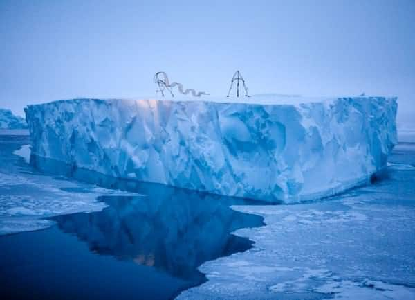 Haunting Sculptures Shaped Like Inuit Dog Sleds Call Attention to Climate Change 4 • Interactive, Happening & Street Art