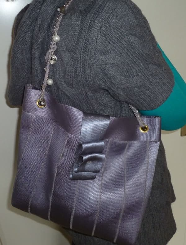 Upcycled Seat Belt Handbags 1 • Accessories