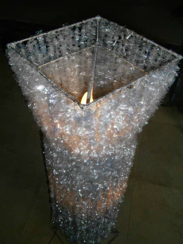 Alternative Crystal Lamp From Recycled Plastic Bottles 1 • Lamps & Lights