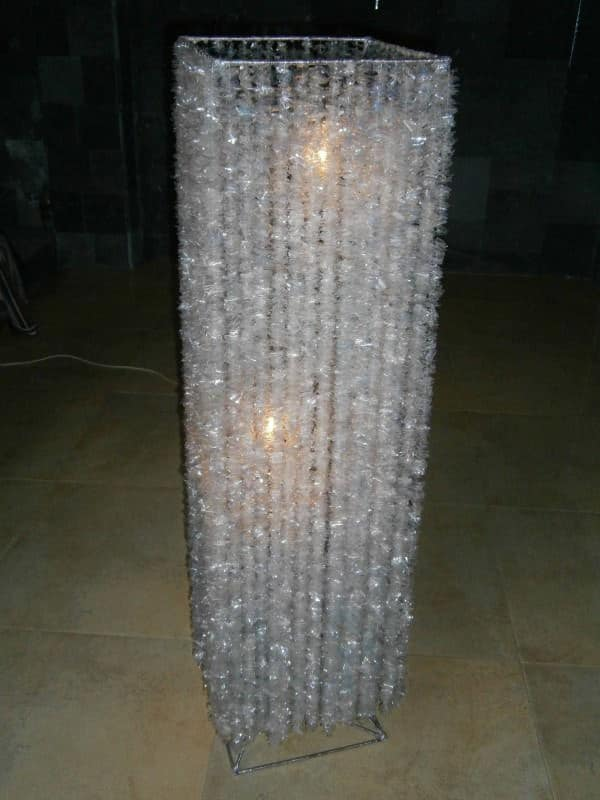 Alternative Crystal Lamp From Recycled Plastic Bottles 3 • Lamps & Lights