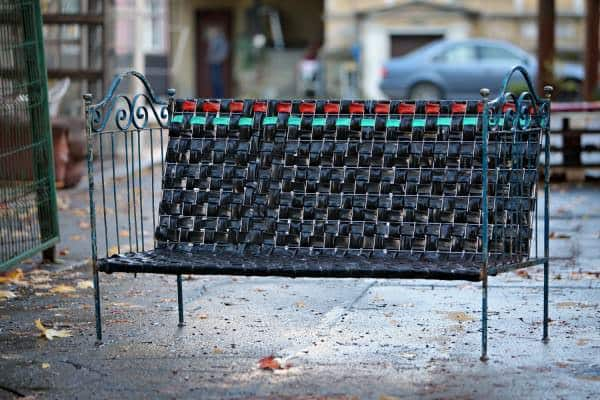 Rubber Glory: Outdoor Bench From Recycled Inner Tubes 1 • Recycled Furniture