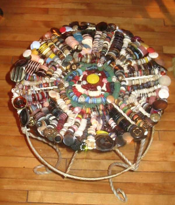 The Madness of Buttons 2 • Recycled Furniture