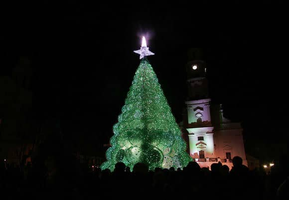 Christmas Tree Made From 40,000 Recycled Plastic Bottles 5 • Recycled Packaging