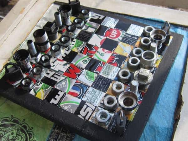 Recycled Chess Board 1 • Do-It-Yourself Ideas