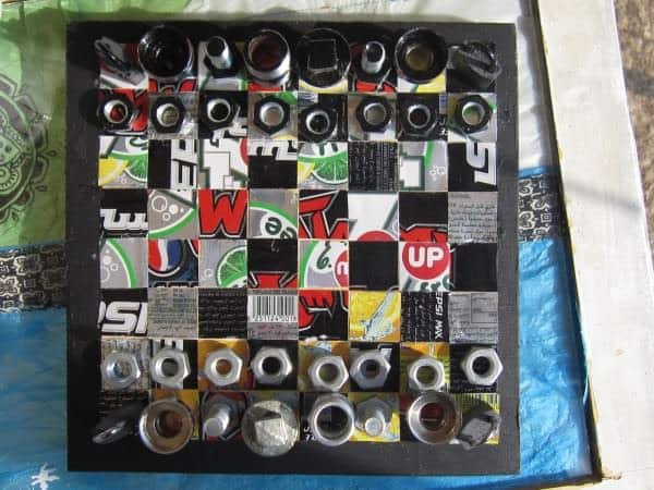 Recycled Chess Board 3 • Do-It-Yourself Ideas