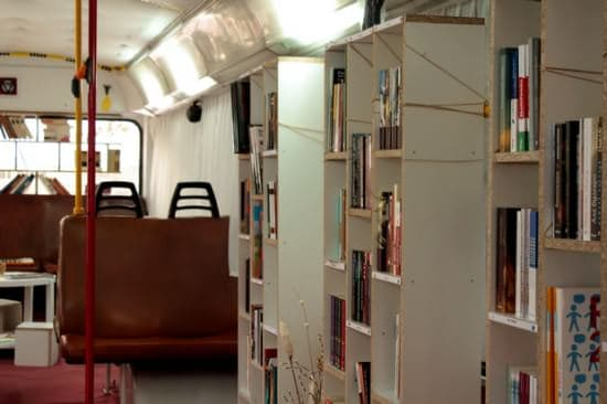 Bus Transformed Into Public Library 5 • Interactive, Happening & Street Art