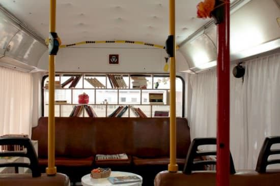 Bus Transformed Into Public Library 4 • Interactive, Happening & Street Art