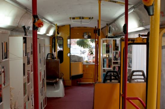 Bus Transformed Into Public Library 3 • Interactive, Happening & Street Art