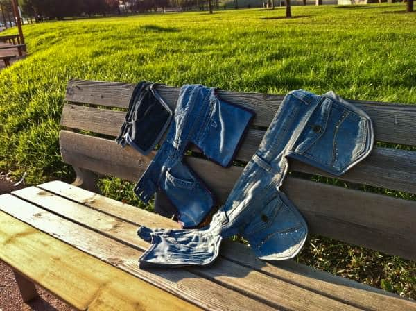 Old Jeans as a Saddlebags 2 • Clothing