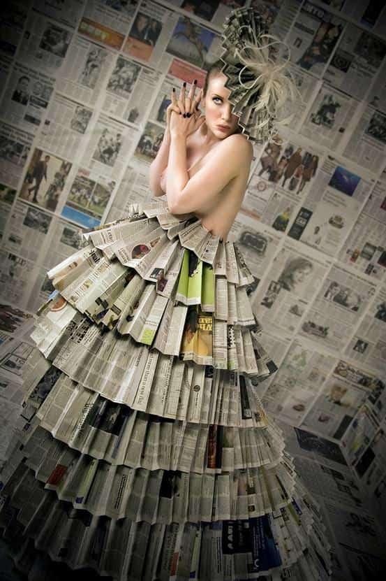 Newspaper Dress 1 • Accessories